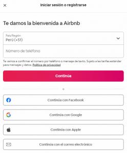 Formularios Airbnb