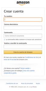 Formulario Amazon